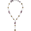 Amethyst and Quartz Vintage-Like Sterling Silver Necklace