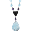 Aquamarine and Iolite Sterling Silver Necklace