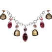 Watermelon and Pink Tourmaline Necklace Sterling Silver