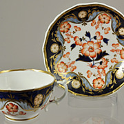 Antique Hand Painted Staffordshire Imari Porcelain Tea Cup and Saucer 1830