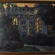 "David Wells Roth Original Oil On Canvas Painting ""Paris Nocturne"" Signed 1982"