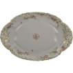 18 Inch Oval Platter Antique Haviland Limoges Ranson w Gold Pink Roses & Green S
