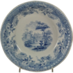 Large Jamieson Blue Transferware &quot;Florentine Villas&quot; Bowl 1840