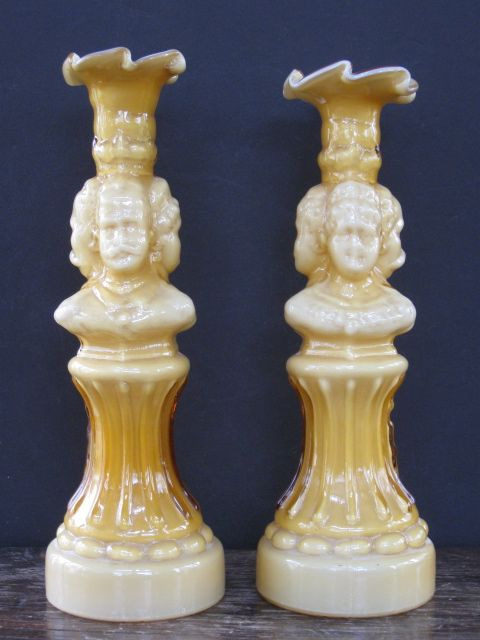 Wonderful Toscany Italian Made Glass Candlesticks