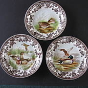 SALE 3 Spode Woodland Shallow Soup Bowls