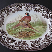 Spode Woodland Pheasant Oval Serving Platter