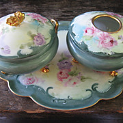 Lovely Gerard Dufraisseix & Abbot Limoges France Dresser Set
