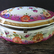 Large Limoges Hinged Dresser Box