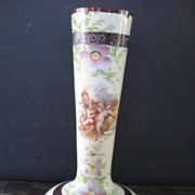 Lovely Cherub Floral Long Stem Bud Vase