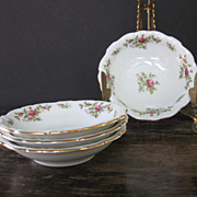 Johann Haviland Bavaria Moss Rose Sauce Bowls
