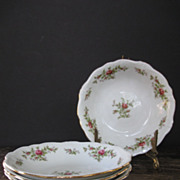 Johann Haviland Bavaria Moss Rose Soup Bowls