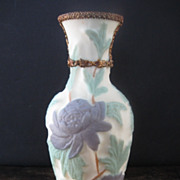 Phoenix Vase with Gold Leaf Trim
