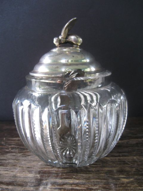 Silver Bee Adorn Lidded Marmalade Jar with Spoon