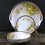 Pretty 5 piece Nippon Dessert Set