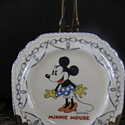 SOLD 1930s Minnie Mouse Plate