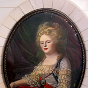 SOLD Framed Miniature of a Woman