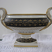 SOLD Striking Limoges Swan Handled Centerpiece Elongated Urn