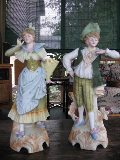 Pair of Bisque Figurines