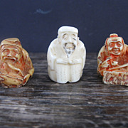 Three Stained Bone Netsuke