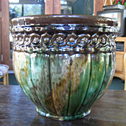 Brown and Green 9 1/4 in.  Jardiniere