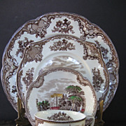 Johnson Bros. 4 Piece Old Britain Castles Place Setting