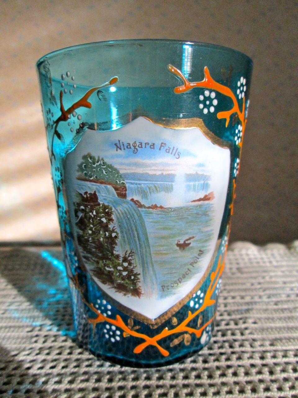 Turn of the Century Niagara Falls Souvenir Glass