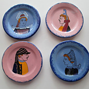 4 Quimper Small Butter Plates