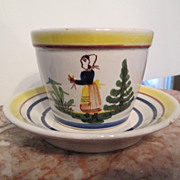 1984 Quimper Cup and Saucer