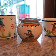 3 Pieces Quimper Pottery