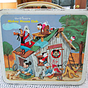 SOLD 1960s Mickey Mouse Club Lunch Box