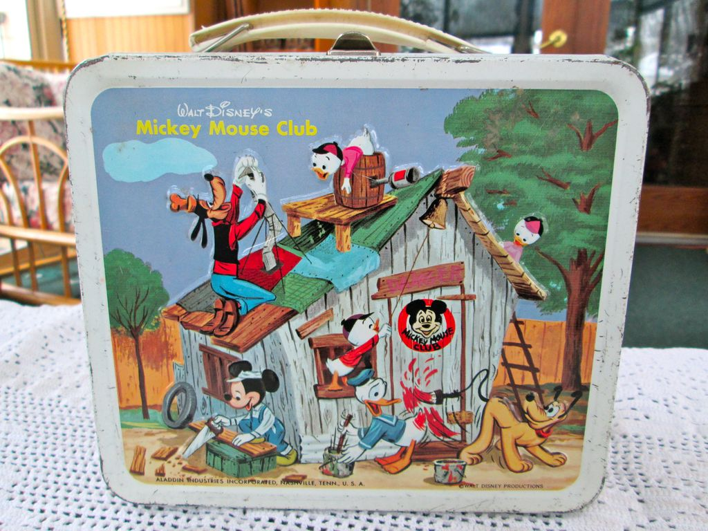 1960s Mickey Mouse Club Lunch Box