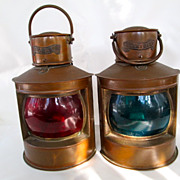 SOLD Pair of Ship Lanterns