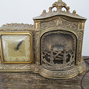 United Working Fireplace Clock