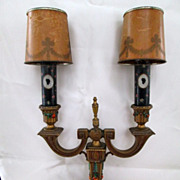 Art Nouveau Double Arm Table Lamp
