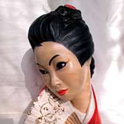 Marwal by Brower 1965 Oriental Chalk ware Bust