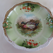 German Porcelain Mallard Plate