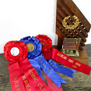 Vintage 1948-50 Equestrian Ribbons and Trophy