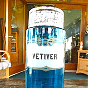 Mid 19th Century Blue Glass Vetiver Jar