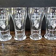 4 Heinz Advertising Large Juice Glasses