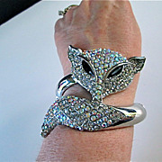 Vintage  Fox Clamper Bracelet