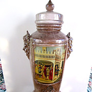 Vintage Italian Signed Decorative Urn