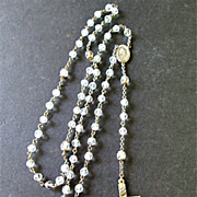 Vintage Sterling Silver and Crystal Rosary
