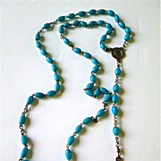 Turquoise Blue Beaded Rosary