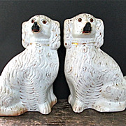 Classic Pair of Late 19th Century Staffordshire Spaniels