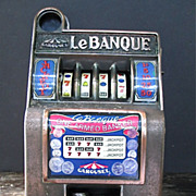 Vintage Carousel Slot Machine Bank