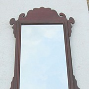 Vintage Carved Chippendale Mahogany Wall Mirror