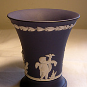 Wedgwood Royal Blue Jasperware Vase