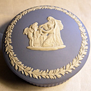 Wedgwood Blue Jasperware Classical Trinket box