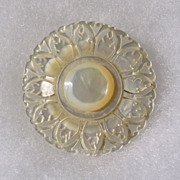 Vintage Carved Mother of Pearl Brooch