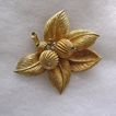 Vintage Gold Tone and Rose Montee Rhinestone Brooch